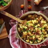 Лисички тушеные с картофелем